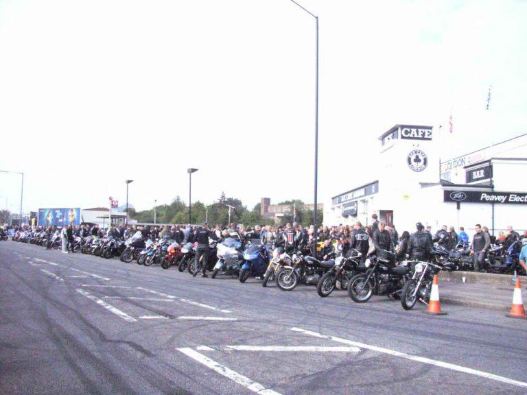 Ace Cafe Reunion 2007 départ Brighton
