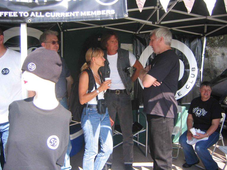 Ace Cafe Reunion 2006 avec Derek leader du 59 depuis les années 70